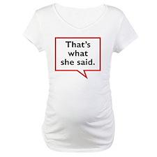SheSaid-01 Shirt