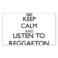 Keep calm and listen to REGGAETON Decal