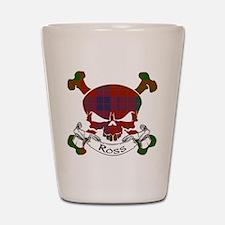 Ross Tartan Skull Shot Glass