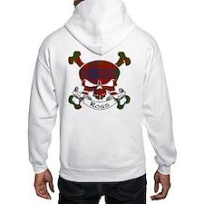 Ross Tartan Skull Hoodie