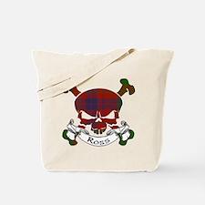 Ross Tartan Skull Tote Bag