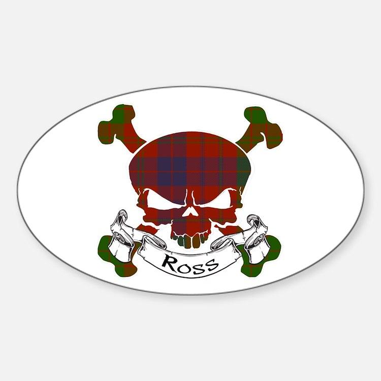 Ross Tartan Skull Decal