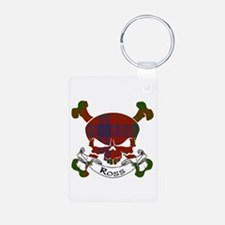 Ross Tartan Skull Aluminum Photo Keychain