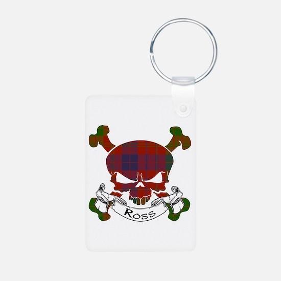 Ross Tartan Skull Aluminum Photo Keychain