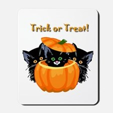 Halloween Trick or Treat Black Cats Mousepad