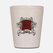 Ross Tartan Shield Shot Glass