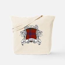 Ross Tartan Shield Tote Bag