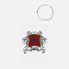 Ross Tartan Shield Aluminum Photo Keychain