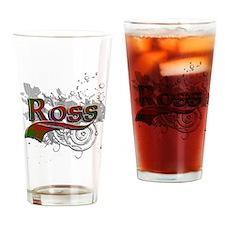 Ross Tartan Grunge Drinking Glass