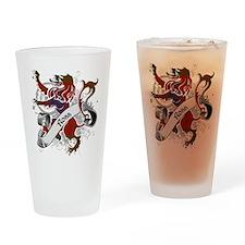 Ross Tartan Lion Drinking Glass