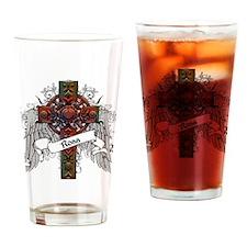 Ross Tartan Cross Drinking Glass