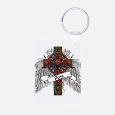 Ross Tartan Cross Aluminum Photo Keychain