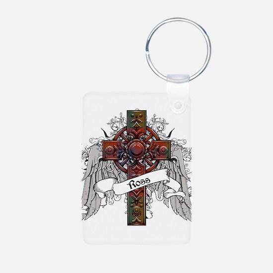 Ross Tartan Cross Aluminum Photo Keychain