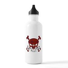 Rose Tartan Skull Water Bottle