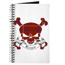 Rose Tartan Skull Journal