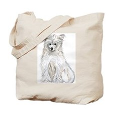 Chinese Crested Powder Puff Tote Bag