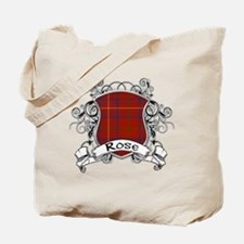 Rose Tartan Shield Tote Bag
