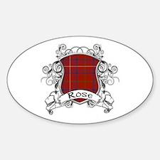 Rose Tartan Shield Sticker (Oval)