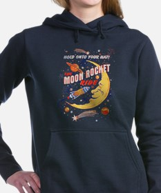 Moon Rocket Ride (vintag Women's Hooded Sweatshirt