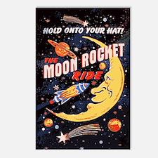 Moon Rocket Ride (vintage Postcards (package Of 8)