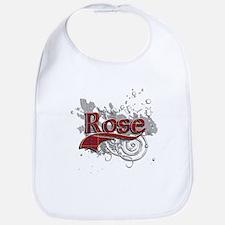 Rose Tartan Grunge Bib