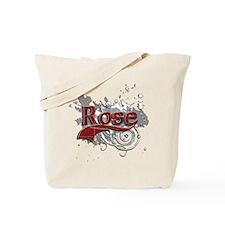 Rose Tartan Grunge Tote Bag