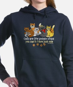 Funny Cat Women's Hooded Sweatshirt