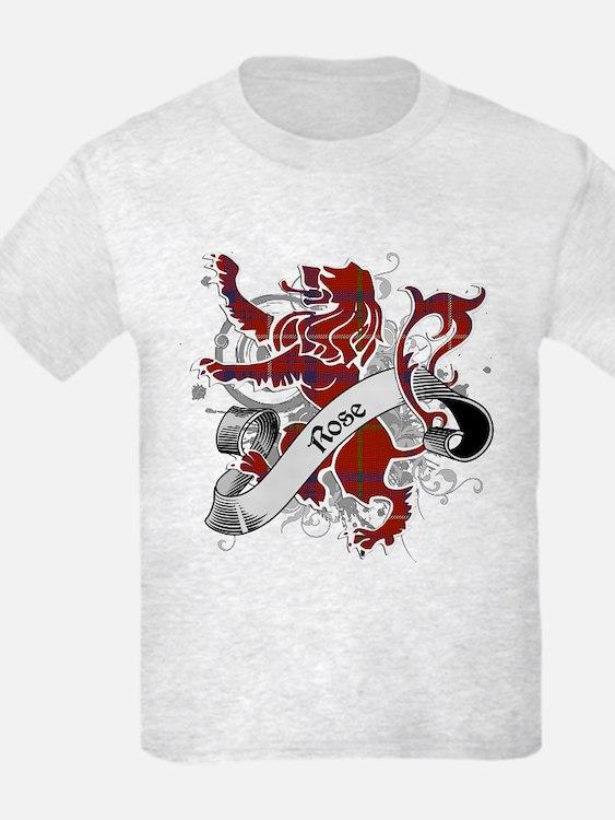Rose Tartan Lion T-Shirt