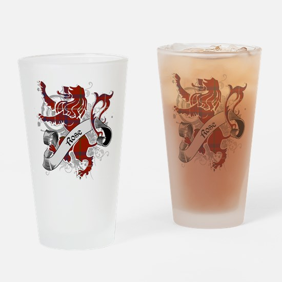 Rose Tartan Lion Drinking Glass