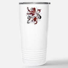 Rose Tartan Lion Stainless Steel Travel Mug