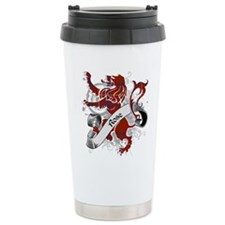 Rose Tartan Lion Travel Coffee Mug