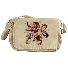 Rose Tartan Lion Messenger Bag
