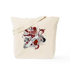 Rose Tartan Lion Tote Bag