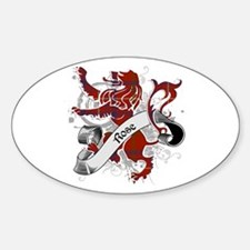 Rose Tartan Lion Sticker (Oval)