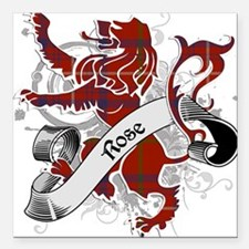 "Rose Tartan Lion Square Car Magnet 3"" x 3"""