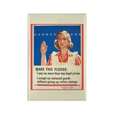 WWII Rationing Rectangle Magnet