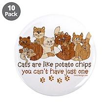 "Cute Brown designs 3.5"" Button (10 pack)"
