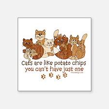 Cats are like potato chips Sticker