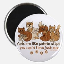 Cats are like potato chips Magnets