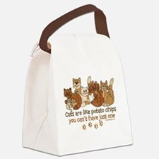 Funny Crazy cat lady Canvas Lunch Bag
