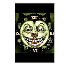 Black Cat 13 Clock Vintag Postcards (package Of 8)