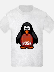 Rose Tartan Penguin T-Shirt