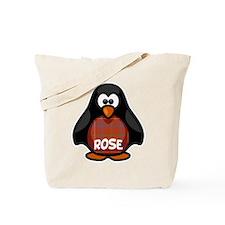 Rose Tartan Penguin Tote Bag