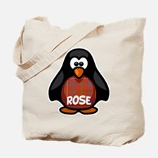 Rose Tartan Penguin Tote Bag
