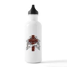 Rose Tartan Cross Water Bottle