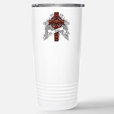 Rose Tartan Cross Travel Mug