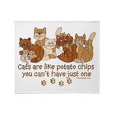 Unique Potato chips Throw Blanket