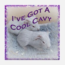 'I've Got A Cool Cavy' Tile Coaster