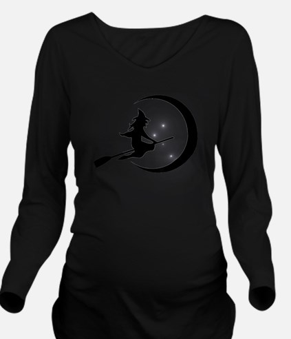 Wicked Witch on a Br Long Sleeve Maternity T-Shirt