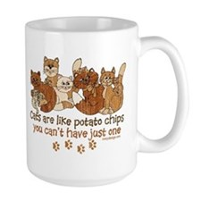 Cats are like potato chips Mugs